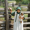 Olivia (my granddaughter) at the Ketola Farm during a Laura Ingalls Wilder summer camp.
