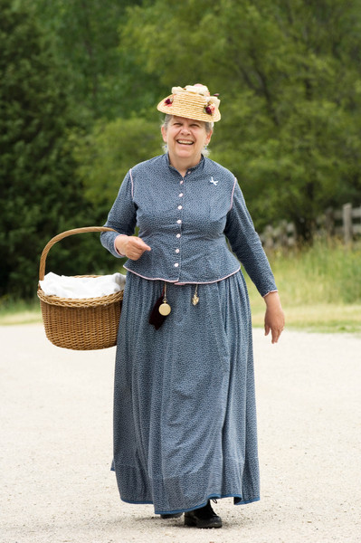 Jane, an Old World Wisconsin interpreter.