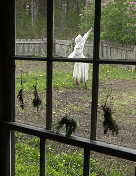 A scarecrow at the 1890 Pedersen (Danish) farm.
