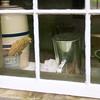 Looking into a kitchen window in the 1890 Pedersen (Danish) farmhouse.