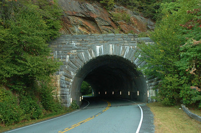 Tunnel on Blue Ridge Parkway near Mount Mitchell.