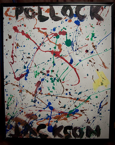 Our son Jackson Pollock painted this at age 2 for his Doctor. Dr. Vaughn