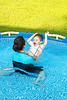 Having fun in the pool