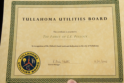 Tree Planting by Tullahoma Utilities in honor of my grandfather Jack Pollock