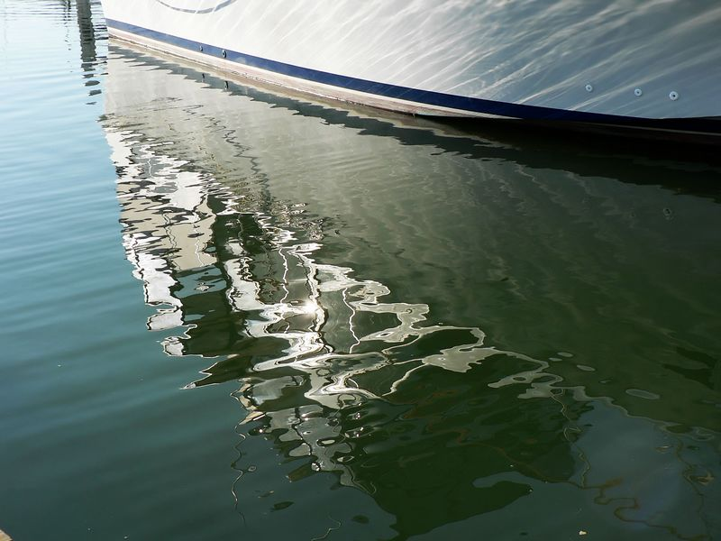 Fri 9-30-05 Boat Reflections