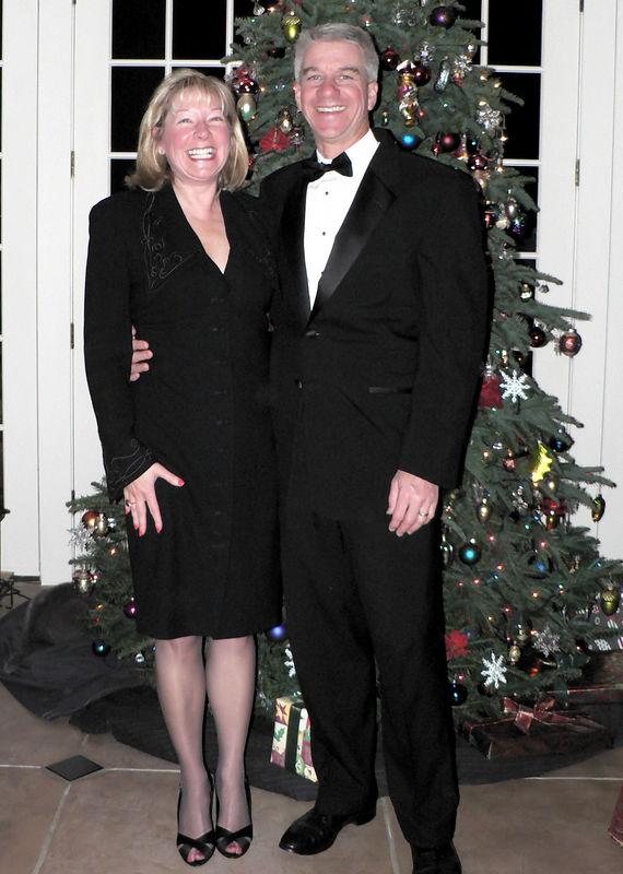 2005 Xmas Party Carol and Dave