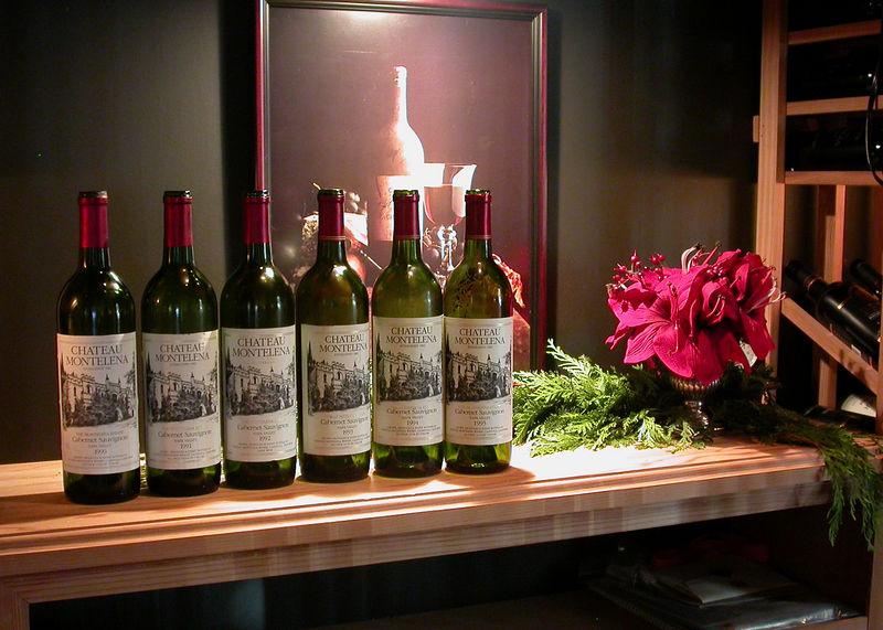 Xmas Party 2005 - Bottles in Wine Cellar