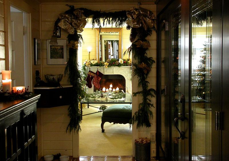 Xmas Party 2005 - Fireplace thru Wine Cellar