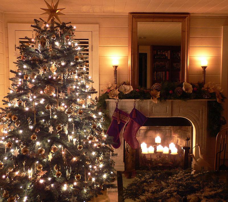 Xmas 2005 - LR Tree and Fireplace
