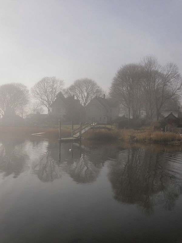 Sun 12-25-05 Wickford in the Fog <br /> <br /> Drove thru Wickford on the way to Newport to see Patti and Neil. The fog was very heavy, but starting to clear. Magical.