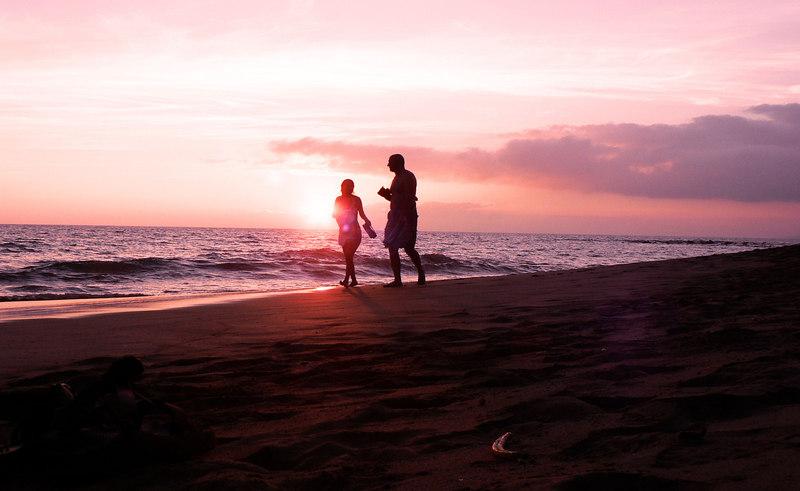 Maui-Sunday - Walk on the Beach at Sunset