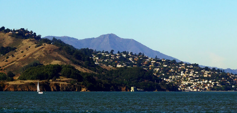 Sat 12-2-06 Mt Tam and Sausalito from Marina Green <br /> <br /> Another shot of Mt Tam for my growing collection.