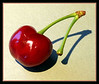 5-01-2007 Cherry Variation. After seeing the first one up here on Smugmug, I decided it needed different cropping and a frame. Oh, and I used a different image, too, and darkened it a bit.<br /> <br /> Which one do you like better?