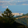 5-31-2007 San Quentin from Mt Tam<br /> <br /> Richmond in the background, San Rafael bridge behind San Quentin. We were on the path leading down from the West Point Inn.