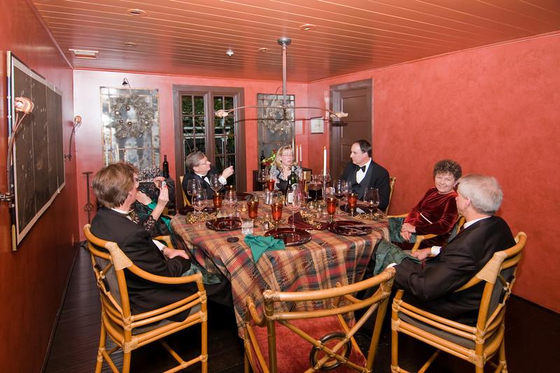 12-06-08 Xmas Party - Table Shot 2