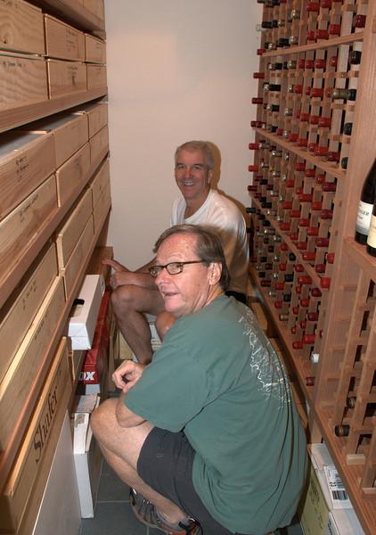 08-01-09 Paul's helping Dave organize his wine cellar