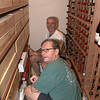 08-01-09 Paul's helping Dave organize his wine cellar