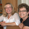 08-01-09 Carol & Cher. Cher & Paul were in town after their annual (26th? maybe) week at Packer Lake and we all headed up the Carol and Dave's for dinner.