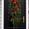 12-04-09 Front door garland - getting going on the decorations for the season