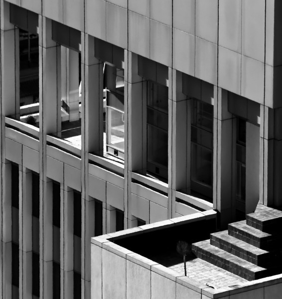 09-25-09 B&W Office Building - one of the many office buildings visible from up on the 26th floor.