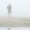 9-20-09 Pt Reyes Drakes Beach Foggy Day - not Steve - just some guy walking on the beach.
