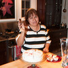 Ernestina serving the cake