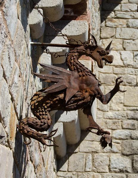 9-2-11 Castello di Amorosa - dragon guarding the entrance