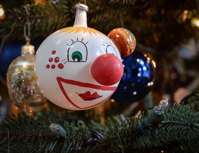 Favorite Ornament<br /> Funny little clown I found at Good Will 25+ years ago