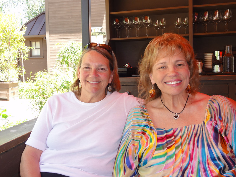 Bunnie & Laurie at Bottega - first day lunch