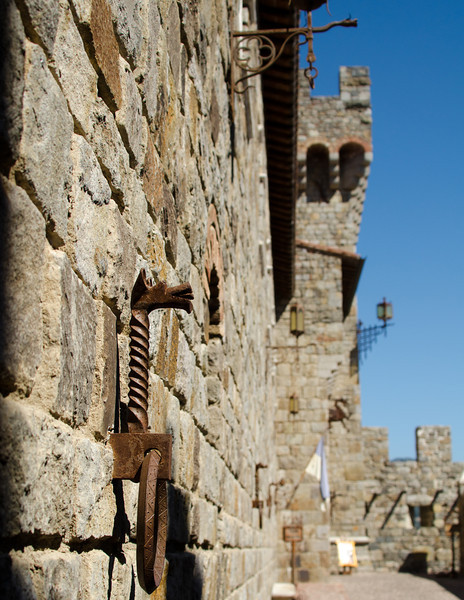 9-2-11 Castello di Amorosa - lots of very authentic metal work
