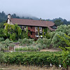 8-31-11 - Wine Country Inn from Lodi Lane. Our room was just behind the spiral staircase on the ground floor.