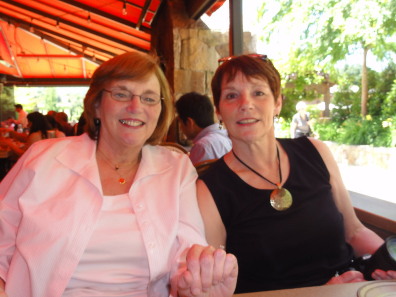 Pam & Jeri at Bottega - first day lunch