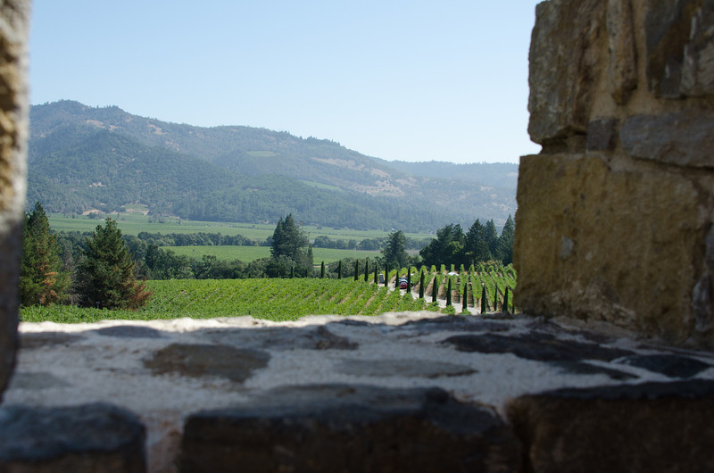 9-2-11 View down to Napa valley from the castle
