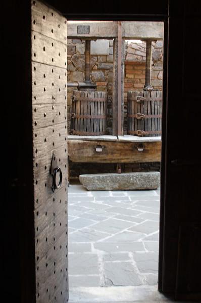 9-2-11 Castello di Amorosa - also a winery. Here's some kind of old wine press
