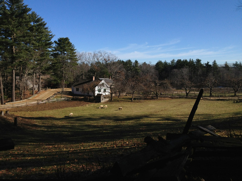 Thursday, Thanksgiving Day. Went to visit Sturbridge Village before heading to dinner in Newport at the White Horse Tavern.
