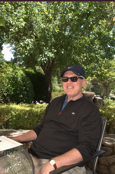 Donnie - relaxed & happy after a day of wine tasting. And still have one more to go - Rochioli - saving the best for last