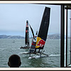 Watching the races from the St Francis Yacht Club dining room. <br /> <br /> 10/23/2012:  I editted this from the previous shot using PicMonkey now available online right in SmugMug. VERY nice! Not easier than Lightroom, but nice in some situations. Also added the frame & mat which I think enhances the shot.