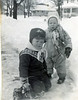 Rich, left, and Me in front of 228 w Franklin, January 1962.   We got used to Chicago area winters at an early age.