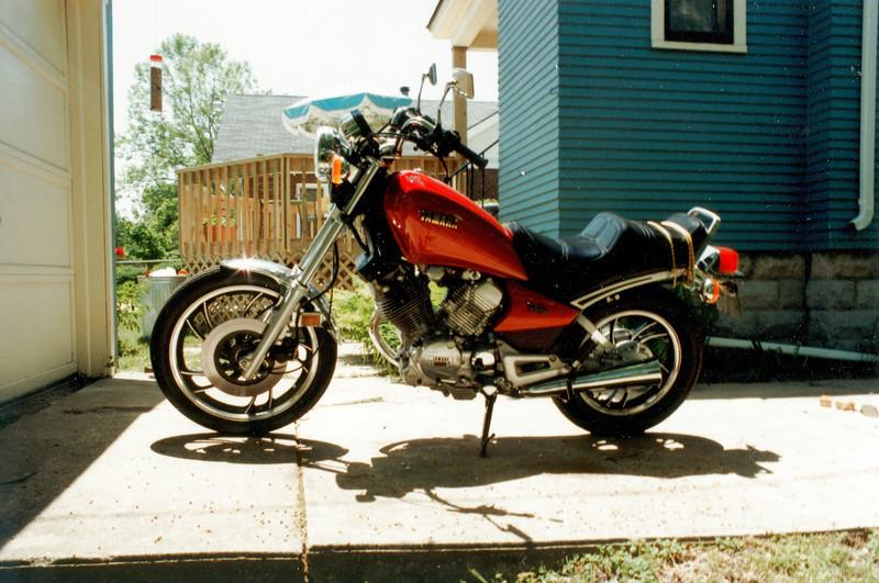 My motorcycle, circa 1983, at 218 n. Columbia st.