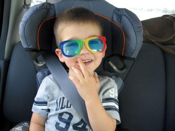 Goofy kid!