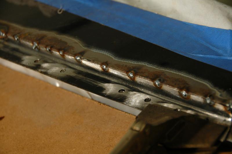 Tack weld in place then weld between tacks.
