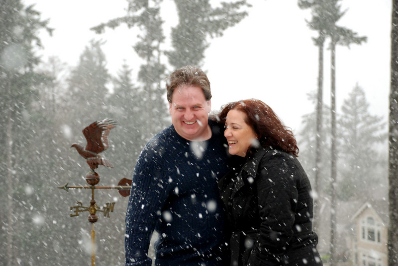 John and Jolene in the snow