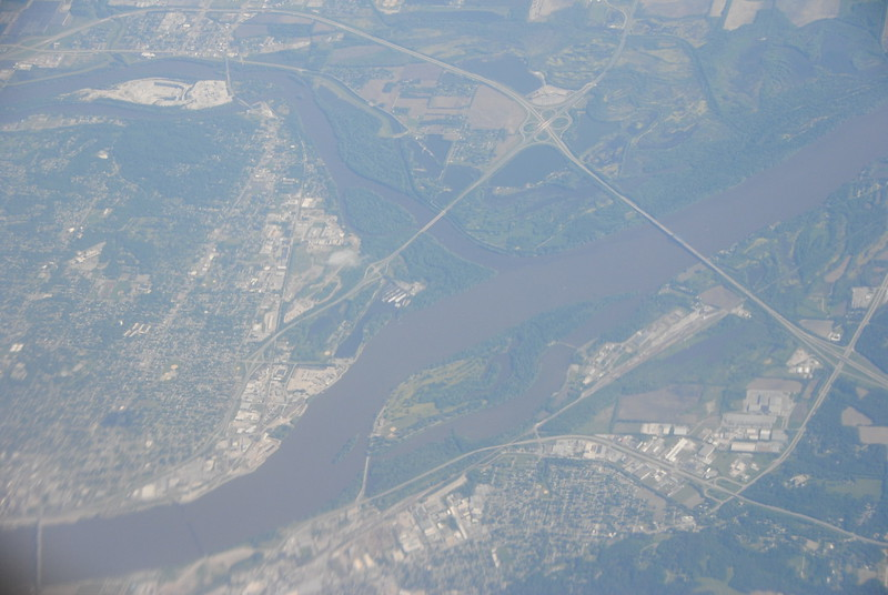 Aerial - Mississippi River