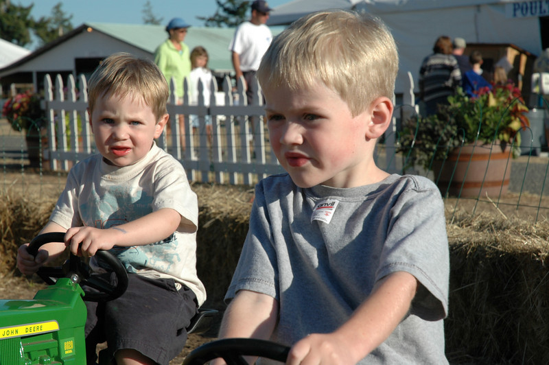 John Deere had tractor races at the SJ county fair a couple of years ago.