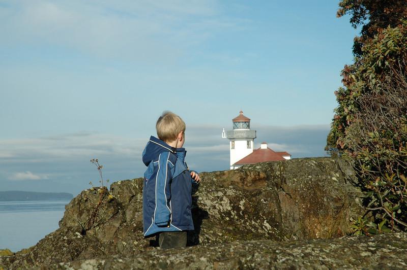 Lime Kiln lighthouse on San Juan island