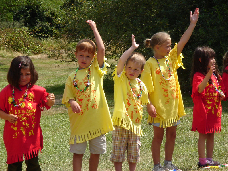 Summer camp closing ceremony.