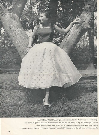 Mary Eleanor (Baby) Fuller Motley - this was in a WPP magazine - Leila (her mother) made the dress - 1960ish?