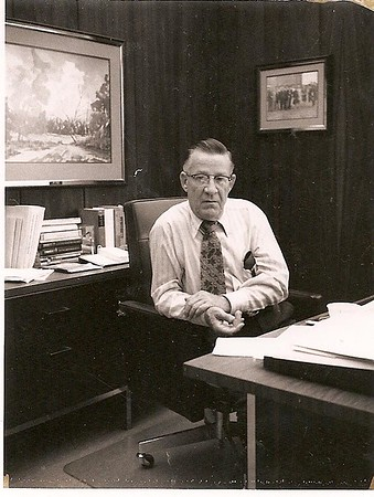 Daddy - his office at Charter Federal - 1980ish