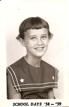 Melanie Harris - 5th Grade '59 - worst hair cut and school picture ever!