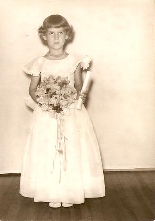 Melanie Harris - Kindergarten Graduation - age 5 - 1953